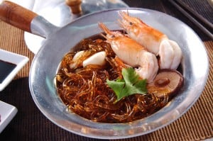 Baked Shrimp with noodle Thailand